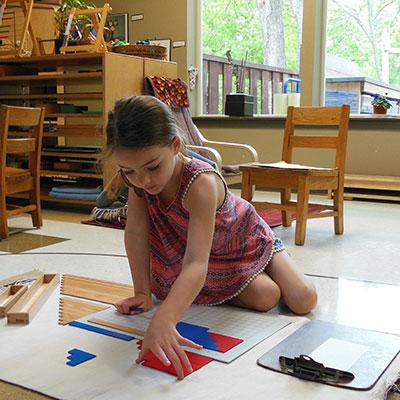 Choosing work - Montessori
