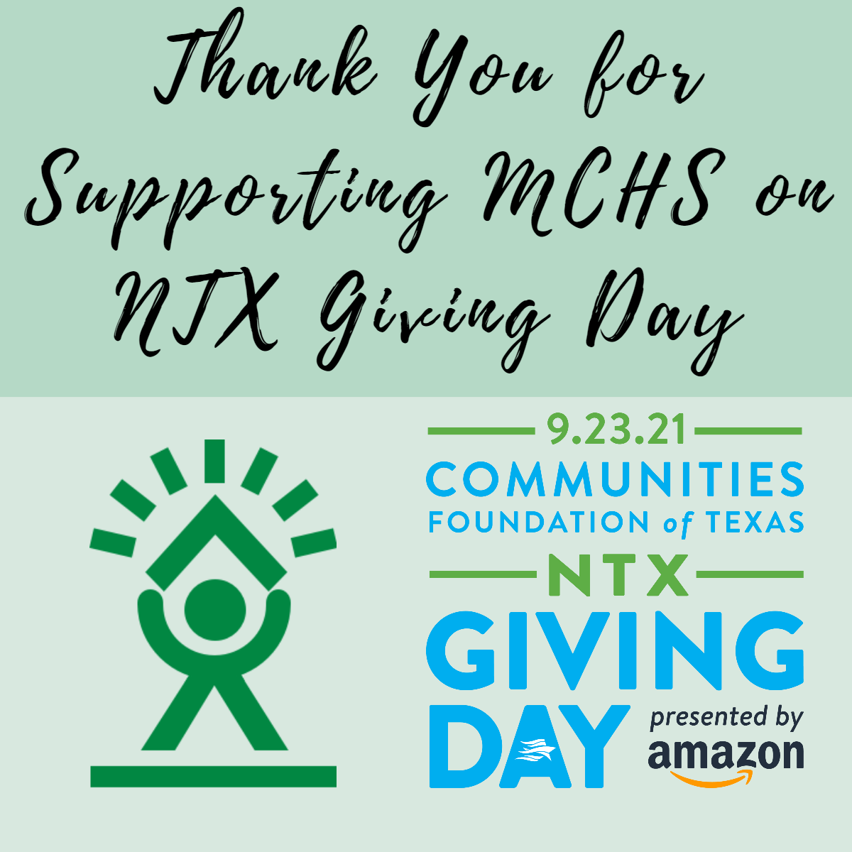 Thank you for supporting MCHS on NTX Giving Day